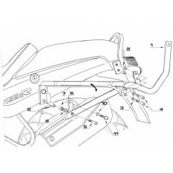 Monorack BMW R 1100 R para maleta MONOKEY® o MONOLOCK®