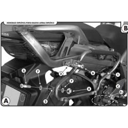 Soporte lateral HONDA CBF 1000 / ABS para Baúl Monokey Side