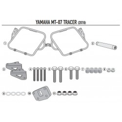 Soporte alforjas laterales GIVI YAMAHA MT-07 TRACER