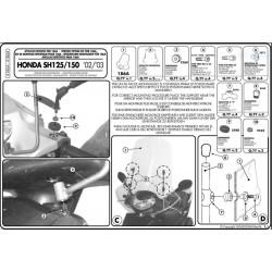 Kit anclajes GIVI HONDA SH 125