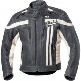 chaqueta piel held harvey 76 negro blanco