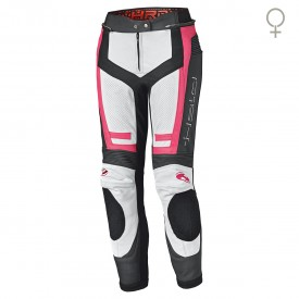 Pantalon piel lady HELD ROCKET 3.0 blanco rosa