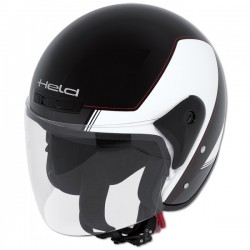 Casco jet HELD HEROS Negro blanco
