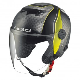 Casco HELD TOP SPOT diseño gris fluor