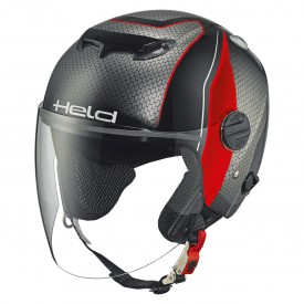 Casco HELD TOP SPOT diseño negro rojo