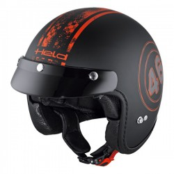 Casco jet HELD BLACK BOB negro rojo