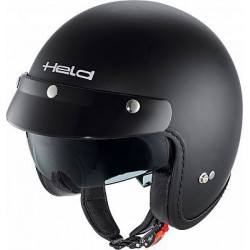 Casco jet HELD BLACK BOB negro mate