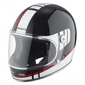 Casco integral retro HELD ROOT negro blanco