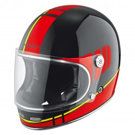 Casco integral vintage HELD ROOT negro rojo