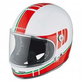 Casco HELD ROOT blanco rojo