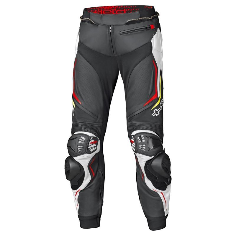Pantalon mono piel HELD GRIND II negro blanco rojo
