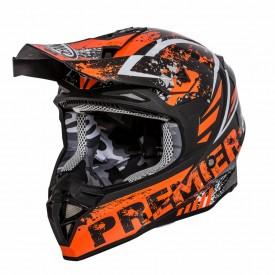 Casco moto-cross PREMIER EXIGE ZX3 Naranja