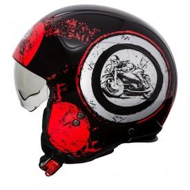 Casco PREMIER ROCKER SD92 negro blanco rojo