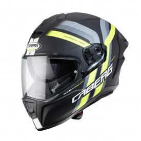 Casco CABERG DRIFT EVO VERTICAL Negro mate Amarillo Fluo Antracita