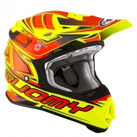 Casco motocross SUOMY MR JUMP START amarillo fluo rojo