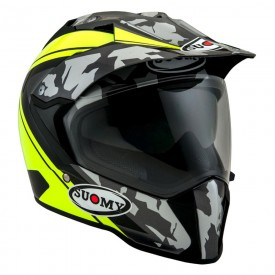 Casco trail SUOMY MX TOURER DESERT amarillo fluo mate