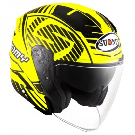 Casco SUOMY SPEEDJET SP-2 amarillo fluo