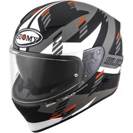 Casco integral SUOMY SPEEDSTAR FLOW blanco gris mate