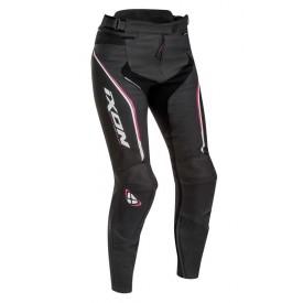 Pantalon piel IXON TRINITY negro blanco fucsia