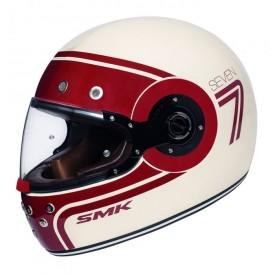 Casco SMK eldorado seven blanco rojo