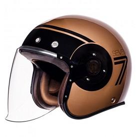 Casco SMK eldorado jet seven negro bronce brillo (gl720)