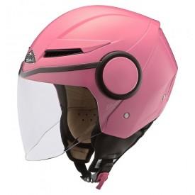 casco jet SMK streem rosa