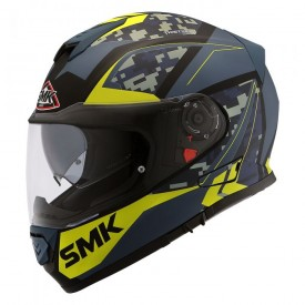 Casco SMK TWISTER ZEST Antracita amarillo mate