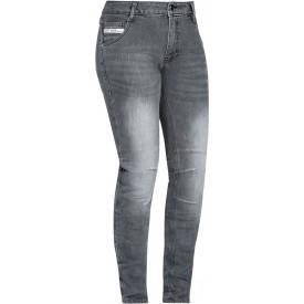 Pantalones jeans cordura IXON MIKKI gris claro lady
