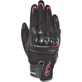 Guantes cortos IXON RS RISE AIR LADY negro rosa