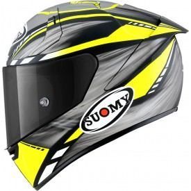 Casco SUOMY SR-GP ON BOARD Gris amarillo Fluo Mate