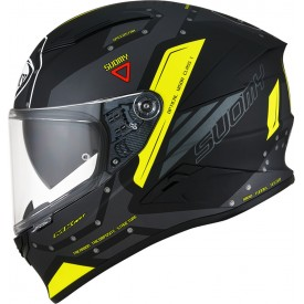 Casco SUOMY SPEEDSTAR AIRPLANE Mate Gris Amarillo