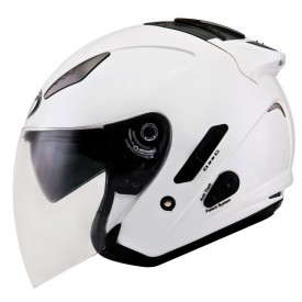 Casco KYT HELLCAT Plain blanco