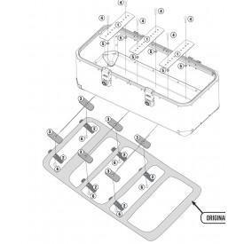Kit fijacion universal GIVI para Baul OBK110