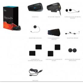 Intercomunicadores CARDO FREECOM 2 DUO contenido de la caja por cada intercomunicador