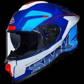 Casco SMK TITAN FIREFLY blanco azul