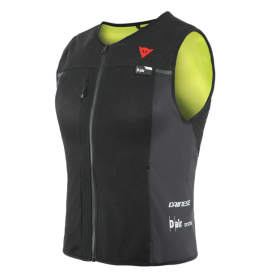 Chaleco Dainese Airbag Smart Jacket Lady negro amarillo fluor