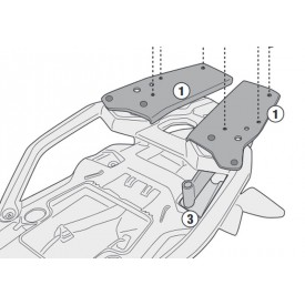 Adaptador baul GIVI SR5129 para BMW F750GS F850GS