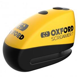 Candado disco con alarma OXFORD SCREAMER amarillo negro