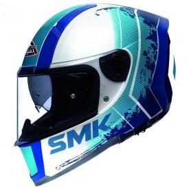 Casco SMK force koster blanco azul