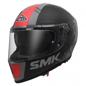 Casco integral con gafa SMK force koster antracita rojo