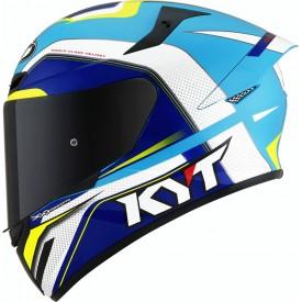 Casco KYT TT COURSE GRAND PRIX Blanco Azul