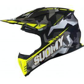 Casco motocross SUOMY X-WING CAMOUFLAGER amarillo