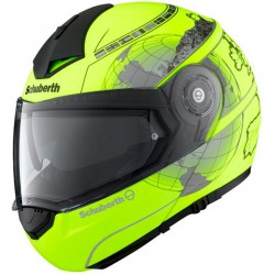 Casco SCHUBERTH C3 PRO EUROPE FLUOR MATE