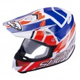 Casco SUOMY MR. JUMP SPECIAL WHITE RED/BLUE