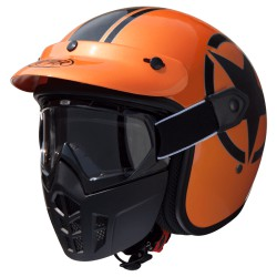 Casco PREMIER MASK STAR METALLIC ORANGE