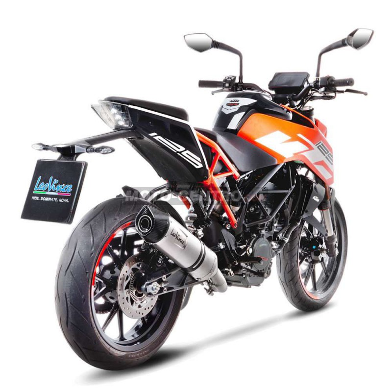 escape leovince lv one evo acero inox ktm duke 125 moto centro. Black Bedroom Furniture Sets. Home Design Ideas
