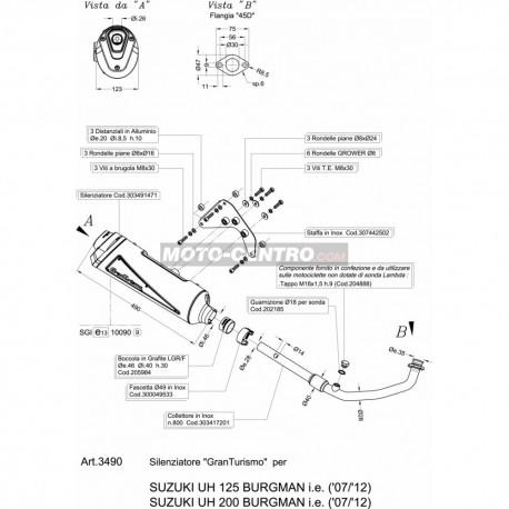 Escape 3490B SUZUKI BURGMAN 125 LEOVINCE GRANTURISMO BLACK EDITION