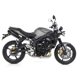 Escapes TRIUMPH STREET TRIPLE 675 LEOVINCE GP STYLE BLACK EDITION