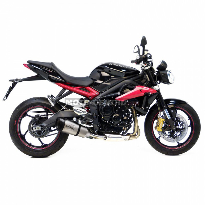 silenciador leovince factory s triumph street triple 675 r moto centro. Black Bedroom Furniture Sets. Home Design Ideas