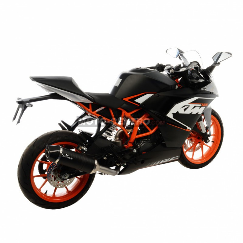 silenciador leovince lv one evo carbono ktm rc 125 moto. Black Bedroom Furniture Sets. Home Design Ideas